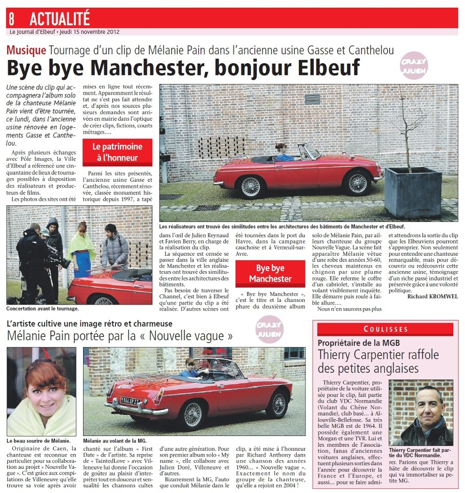 Le Journal d'Elbeuf 15-11-2012